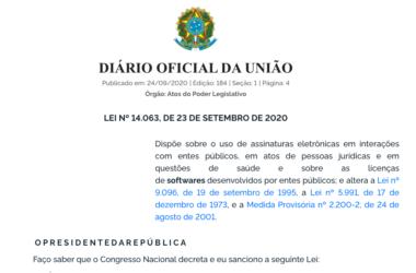 Informe Jurídico – LEI Nº 14.063