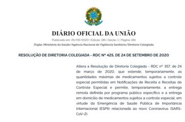 Informe Jurídico – RESOLUÇÃO DE DIRETORIA COLEGIADA – RDC Nº 425