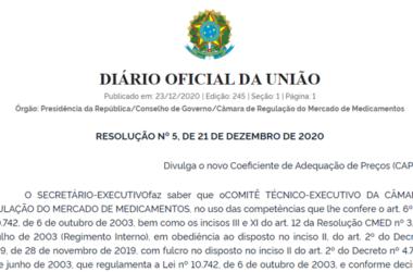 Diário Oficial RESOLUÇÃO Nº 5, DE 21 DE DEZEMBRO DE 2020
